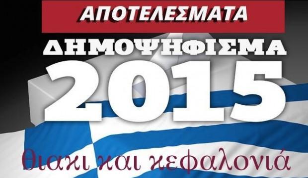 αποτελέσματα δημοψηφίσματος \ ιούλη 2015, στη ιθάκη και κεφαλονιά